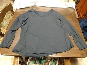 NWT 90 Degree By Reflux Black Long Sleeved Top Size Women's 1X