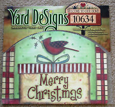 "Merry Christmas Gift Yard DeSigns Magnetic Yard Art 14"" x 10"" Made in USA"