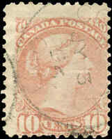 Canada Used 1877 10c F Scott #40  Perf. 12 Small Queen Stamp