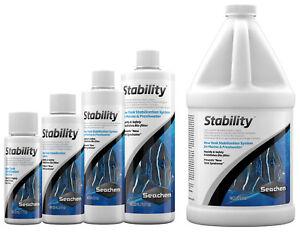 Seachem STABILITY 50ml 100ml 250ml 500ml Aquarium Fish Tank Live Bacteria Colony