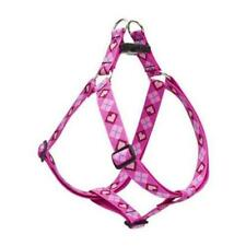 "Lupine Dog Step-In Harness 1/2"" PUPPY LOVE 12""-18"" Pink Red Hearts Diamonds New"