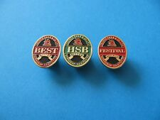 Set of 3, GEORGE GALE Beer Brewery Pin badges. FESTIVAL, BEST  &  HSB