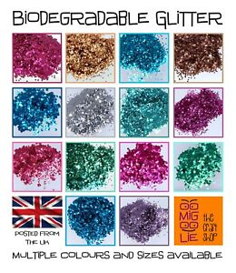 Biodegradable Glitter Wax Melts Eco Friendly Vegan Cosmetic Sparkles 5g Bags *UK