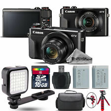 Canon PowerShot G7 X Digital 20.1MP DIGIC 7 Camera + EXT BAT + LED - 16GB Kit