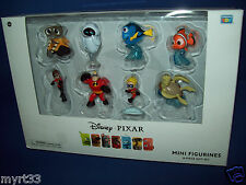 Disney PIXAR INCREDIBLES WALLE FINDING NEMO 8 MINI FIGURE SET Eve Dorie Flash