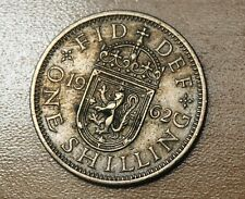 1962 Great Britain 1 Shilling Scottish Crest
