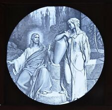 Glass Magic Lantern Slide Jesus and the Woman of Samaria