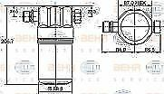 NEW HELLA AIR CON DRYER AUDI 80 90 A4 A6 VW PASSAT 8FT351192-041