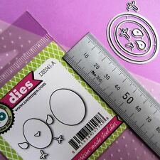iMPRESSiON OBSESSiON ∽ EGG & CHiCKEN SET ∽ THiN 5mm to 40mm Approx CUTTiNG DiES