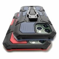 For iPhone 12 Pro 12Mini Shockproof Case Heavy Duty Bumper Armor Kickstand Cover