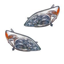 2003-2008 Toyota Matrix Driver & Passenger Headlights Lamps Assembly Pair Set