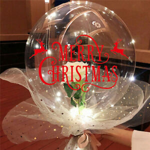 Christmas⭐Balloon Stickers Merry Christmas Sticker Balloons Party Decoration-DIY