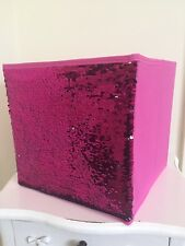 Mermaids Hot Pink Sequin Storage Cube Foldable Collapsible Box Home Organiser