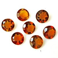 Wholesale Lot 4mm to 7mm Round Faceted Natural Citrine Loose Calibrated Gemstone