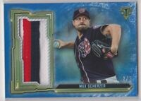 2020 Topps Triple Threads Baseball Max Scherzer Sapphire Jumbo Patch Card # 2/3
