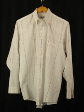 Liberty of London Pinpoint Oxford White Checked Long Sleeve Dress Shirt 16 34/35