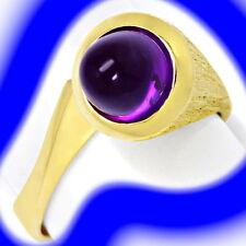 Markenlose Echtschmuck-Ringe aus Gelbgold mit Cabochon-Schliffform