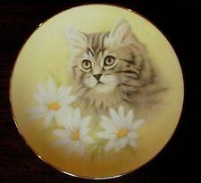 Bob Harrison Cat Collectors Plate Spring Fever Petals And Purrs Porcelain Vtg