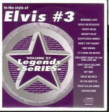 KARAOKE CDG     LEGENDS SERIES  VOLUME  27   ELVIS # 3   15 TOP TRACKS