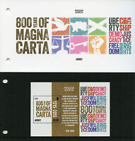 Jersey 2015 MNH Magna Carta 800 Years 1v M/S Presentation Pack Democracy Stamps