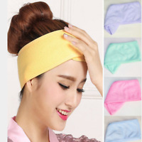 Women Adjustable Makeup Toweling Hair Wrap Head Band Salon SPA Facial Headbands.