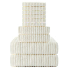 10pcs Luxury Towel Set 100% Cotton Ultra Soft Bath Towels Hand Towel Wash Cloth