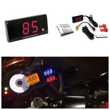 Red LCD Digital Motorcycle Instruments Thermometer Water Temperature Gauge Meter