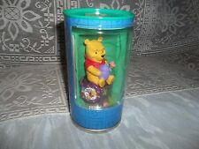 """DISNEY WINNIE THE POOH WATCH AND POOH FIGURE IN A CAN-Purple- Bin """"A"""""""