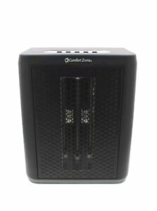Comfort Zone Infrared Electric Portable Desktop Space Heater, Black