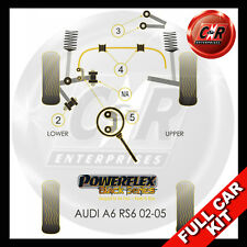 Audi RS6 Avant (02-05) Powerflex Black Complete Bush Kit