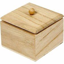Mini Wooden Box & Lid - Craft Paint Home Wedding Decorate Jewellery - Gift Box