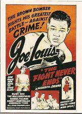 "JOE LOUIS CRIME BOXING SPORTS IMMORTALS KITCHEN SINK 1993 (3"" x 4"") CARD #15 NM"