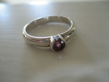 Authentic TIFFANY & CO Sterling Silver 925 Pink Sapphire Ring 6