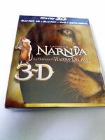 """BLU-RAY """"NARNIA LA TRAVESIA DEL VIAJERO DEL ALBA"""" BLURAY 3D COMO NUEVO  3 DISCOS"""
