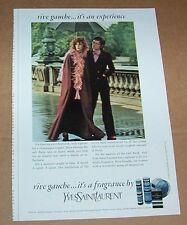 1973 print ad - YSL Yves Saint Laurent RIVE GAUCHE sexy Girl advertising ADVERT