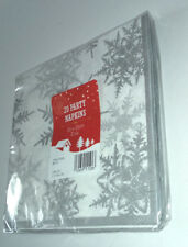 20 Paper Napkins Silver Snowflake Christmas Dinner Buffet Party