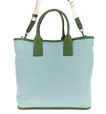 NWT $1100 DOLCE & GABBANA Mens Blue Nylon Leather Gym Travel Shoulder Hand Bag