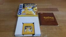 Pokemon Gelbe Special Pikachu Special Edition Gameboy OVP CIB Boxed