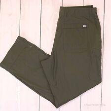REI CO-OP Roll-up Lightweight Nylon Stretch Hiking Pants Green 34x30 EH02