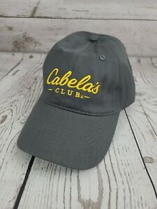 Cabelas Club Men's Strapback Hat Dark Gray/Yellow One Size Fits Most