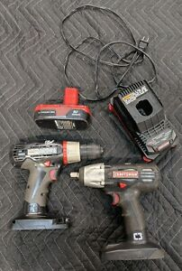 """USED CRAFTSMAN C3 bundle 19.2 Volt 1/2"""" Impact  & Drill/battery/charger"""