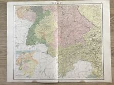 1864 South Germany Tyrol Austria Large Map by J. Bartholomew 69 cm x 54 cm