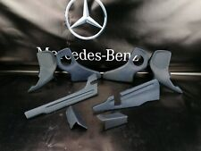 Mercedes W123 Original seat rail hinge cover plastic trim blue set