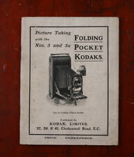 KODAK LTD NO. 3 AND 3A FOLDING POCKET KODAK INSTRUCTION BOOK/cks/215279