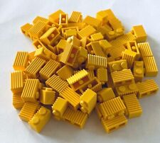 *NEW* Lego 100 Pieces Lego Brick 1x2 Modified YELLOW GRILLE 2877