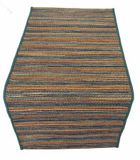 MISSONI HOME  CARPET RUG JUTE WOOL COTTON CARIOCA T125 OCEAN 1.8x4' BRANDED PACK