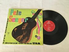 PETE SEEGER LIVE HOOTENANY SONGS OF THE USA 1965 FRANCE RELEASE LP