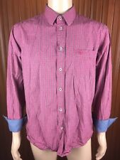 (Used) Mens Duchamp Long Sleeve Button Front Shirt Size: L Checks