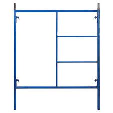 """5' x 6' 4"""" Section of Blue Heavy Duty Scaffold - Quality Steel Mason Frames"""