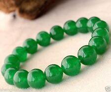 10MM Green Malay Jade Crystal Bracelet